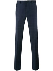 Paul Smith Ps By Plaid Tailored Trousers Blue