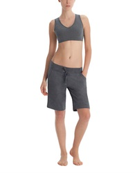 Danskin Stretch Cotton Bermuda Shorts Charcoal