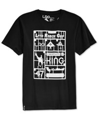 Lrg Big And Tall Snap Together T Shirt Black