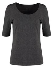 Opus Sanika Basic Tshirt Raven Grey Anthracite