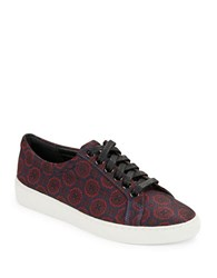 Michael Kors Valin Patterned Sneakers Navy Blue