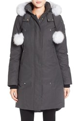 Moose Knuckles Women's 'Stirling' Down Parka With Genuine Fox Fur Trim Grey W Natural Fur