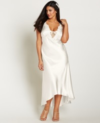 Flora By Flora Nikrooz Plus Size Satin Stella Nightgown Ivory