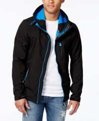Superdry Men's Windtrekker Hooded Jacket Black Denb