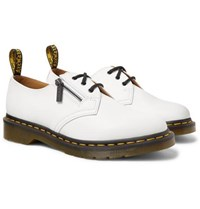 Beams Dr. Martens Leather 1461 Derby Shoes White