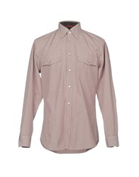Zegna Sport Shirts Brown