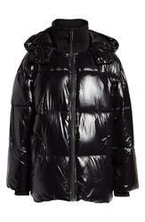 Ivy Park Glossy Puffer Coat Black