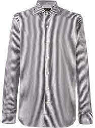 Gabriele Pasini Striped Button Down Shirt Black