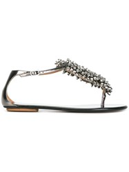 Aquazzura Mon Flat Sandals Grey