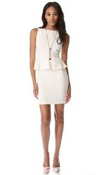 Alice Olivia Tracey Peplum Dress Ivory