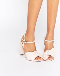 Asos Healer Heeled Sandals Pale Pink