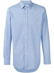Aspesi Classic Shirt Men Cotton 41 Blue