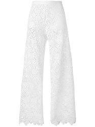 Ermanno Scervino Lace Beach Trousers Women Polyester 38 White