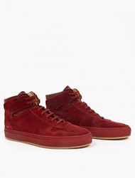 Common Projects Suede Hi Top Baseball Sneakers