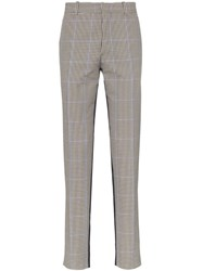 Alexander Mcqueen Contrast Dogtooth Trousers Multicolour