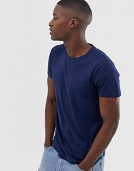 Tom Tailor T Shirt With Side Stripe In Navy