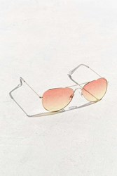 Urban Outfitters Ocean Gradient Aviator Sunglasses Red Multi