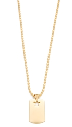 Rebecca Minkoff Military Mix Dog Tag Necklace Gold