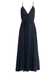 Loup Charmant Ballet Wrap Cotton Dress Navy