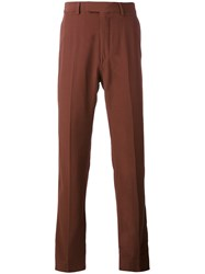Gucci Twill Trousers Men Viscose Wool 46 Red