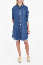 Acne Studios Women S Gracie Denim Shirt Dress Boutique1 Blue