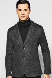 Boohoo Slim Fit Blazer Charcoal