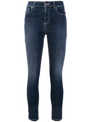 Twin Set High Waisted Jeans Cotton Spandex Elastane Polyester Blue