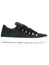 Dsquared2 Metallic Accent Checked Sneakers Black