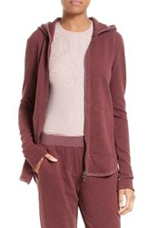 Atm Anthony Thomas Melillo Women's Front Zip Hoodie Brownstone