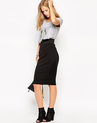 Eleven Paris Jersey Pencil Skirt Black