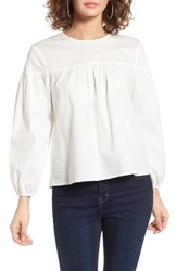 Wayf Women's Blair Poplin Swing Blouse Ivory