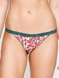 Love Stories Wild Rose Leopard Print Bikini Brief Pink