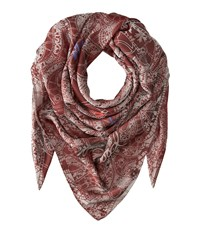 Vivienne Westwood Cut Out Lace Oxblood Scarves Red