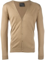 Laneus V Neck Cardigan Nude And Neutrals