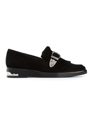 Toga Pulla Fringed Loafers Black