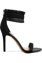 Sam Edelman Anabeth Fringed Suede Sandals Black