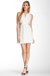 Bcbgeneration Side Cutout Cocktail Dress White