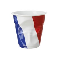 Revol Crumple Flag Cup France Cappuccino 8.5 Cm