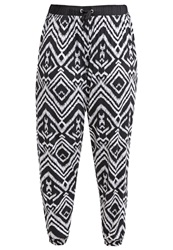 Zalando Essentials Tracksuit Bottoms Black White