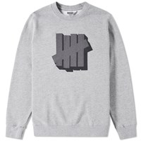 Undefeated Shadowed Strike Crew Sweat Grey