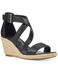Nine West Jorgapeach Wedge Sandals Black