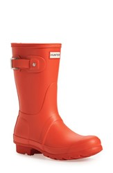 Women's Hunter 'Original Short' Rain Boot Tent Red