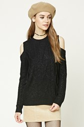 Forever 21 Open Shoulder Fisherman Sweater