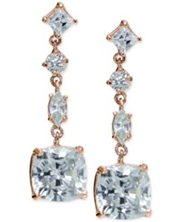 Giani Bernini Cubic Zirconia Linear Drop Earrings In 18K Rose Gold Plated Sterling Silver Only At Macy's