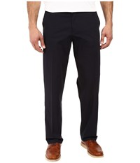 Dockers Signature Stretch Relaxed Flat Front Navy Men's Casual Pants