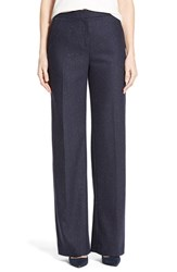 Plus Size Women's Halogen Wide Leg Pants Navy Pattern