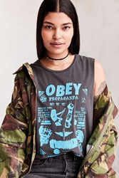 Obey Secret Location Muscle Tee Washed Black