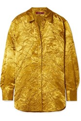 Sies Marjan Sander Crinkled Satin Twill Shirt Gold