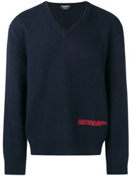 Calvin Klein 205W39nyc Embroidered Logo Sweater Blue