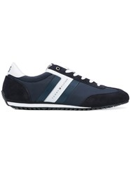 Tommy Hilfiger Panelled Sneakers Men Suede Nylon Polyester Rubber 44 Blue